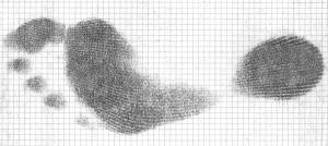 High Arch Foot Impression Sheet